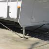 Steadyfast Stabilizer installed on landing gear of fifth wheel trailer Best way to simply stop trailer movement